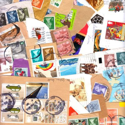 50g Great Britain Kiloware - On-Paper Mix of 150+ Stamps