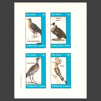 Eynhallow / Holy Island 1982 Birds (4v, 10p to 60p, U/M)