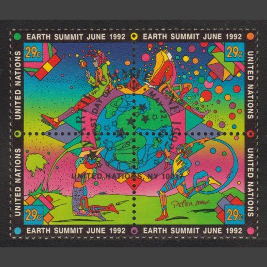 United Nations New York 1992 Earth Summit (SG 615-618, CTO)