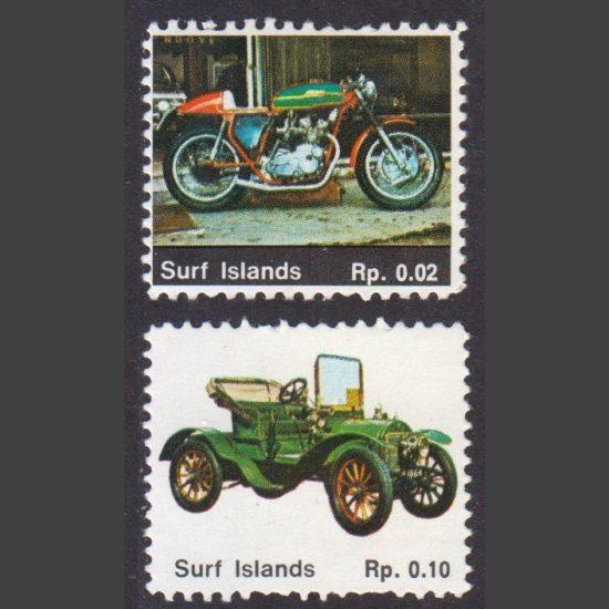 Surf Islands c1990s Fantasy Stamps x2 (U/M)