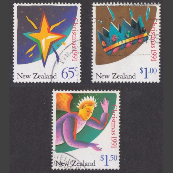 New Zealand 1991 Christmas - Full Set of 7 (SG 1628-34, Used)