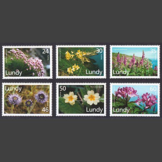 Lundy 1996 Flora (6v, 24p to 60p, U/M)