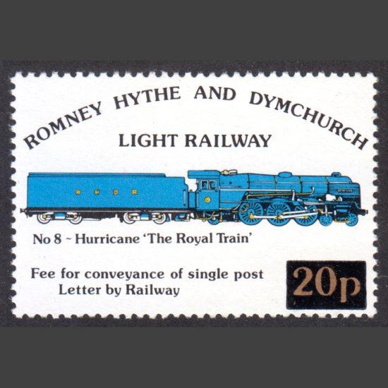 Romney, Hythe & Dymchurch Light Railway 1982 20p Hurricane Provisional Issue (U/M)