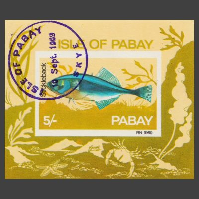 Pabay 1969 Stickleback Sheetlet (5s, CTO)
