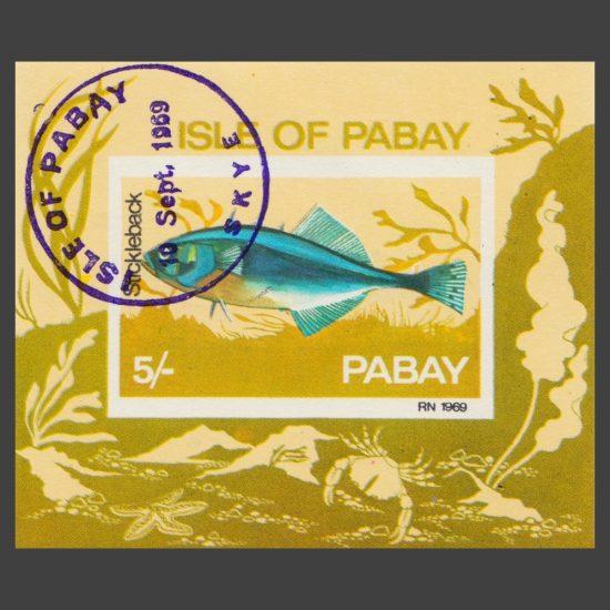 Pabay 1969 Stickleback Sheetlet (5s, CTO)