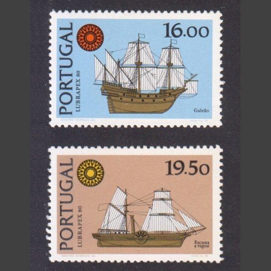 "Portugal 1980 ""Lubrapex 80"" Stamp Exhibition Part Set (SG 1813-14, U/M)"