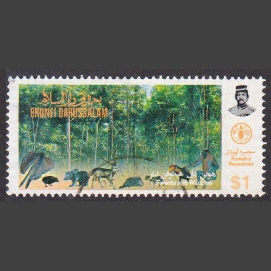 Brunei 1984 $1 Forestry Resources (SG 352, F/U)