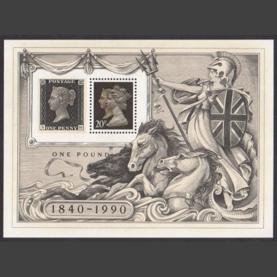 Great Britain 1990 150th Anniversary Penny Black Miniature Sheet (SG MS1501, U/M)