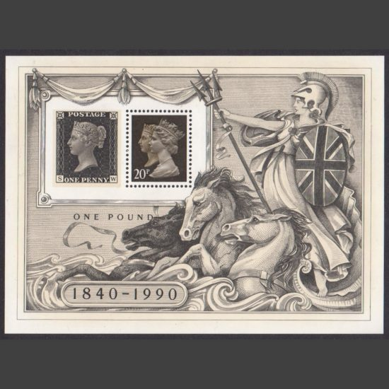 Great Britain 1990 150th Anniversary Penny Black Miniature Sheet (SG MS1501, U/M)