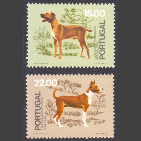 Portugal 1981 50th Anniv of Kennel Club of Portugal Part Set (SG 1834-35, U/M)