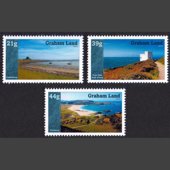 Graham Land 2019 Islands of the United Kingdom (Issue 2) (3v, 21g to 44g, U/M)