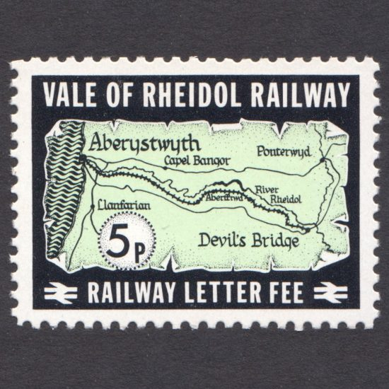 Vale of Rheidol Railway 1972 5p Map Definitive (U/M)