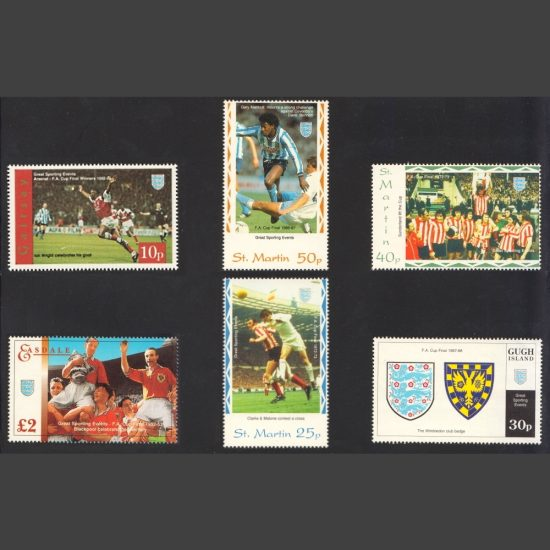 Easdale, Gairsay, Gugh Island, St Martin 1990s Selection of Six FA Cup Winners Stamps (U/M)