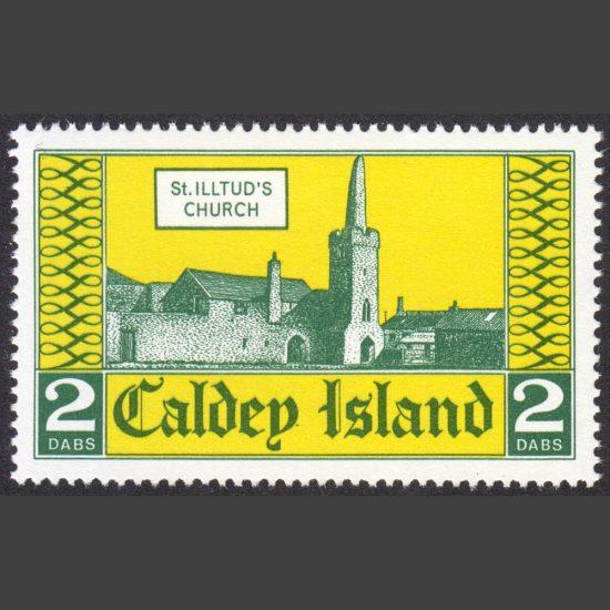 Caldey Island 1976 St Illtud's Church (2 Dabs, U/M)
