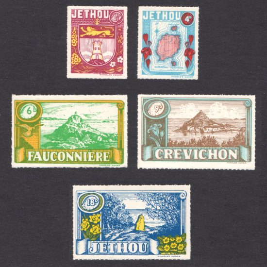 Isle of Jethou 1960 Jethou Scenes (including Fauconniere and Crevichon) (5v, 1d to 18d, U/M)