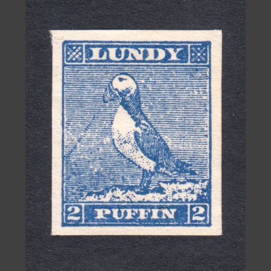 Lundy 1942 2p Puffin Cut-Out from 'Tighearna' Miniature Sheet (U/M, No Gum)
