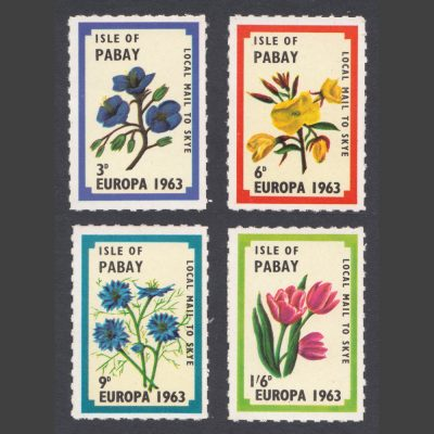 Pabay 1963 Europa (4v, 3d to 1s6d, U/M)