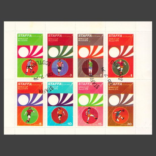 Staffa 1974 World Cup (8v, 1p to 30p, CTO)