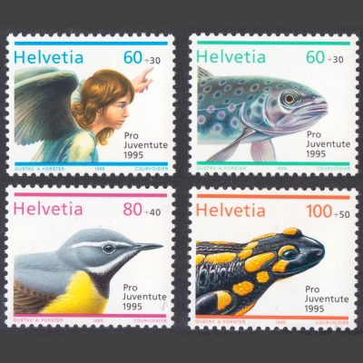 Switzerland 1995 Pro Juventute - Christmas and Wildlife (SG J333-336, U/M)