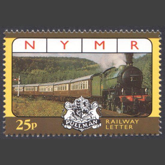 North Yorkshire Moors Railway 1998 25p NYMR Anniversary Pullman Train (U/M)