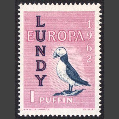 Lundy 1962 Europa 1p Stamp (U/M)