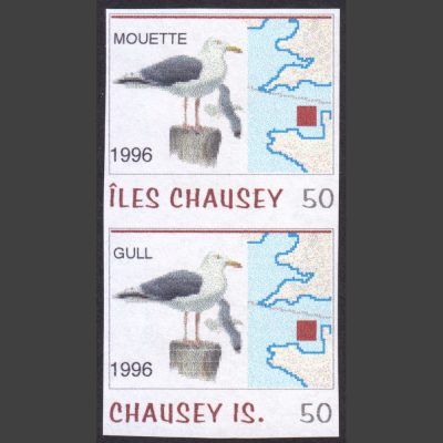 Chausey 1996 Gull/Mouette Fantasy Issue (2x 50c, U/M)