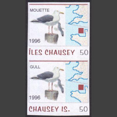 Chausey 1996 Gull/Mouette Fantasy Issue (2x 50c, U/M)