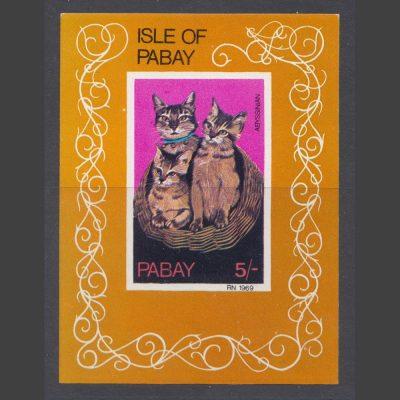 Pabay 1969 Cats Sheetlet (5s, U/M)