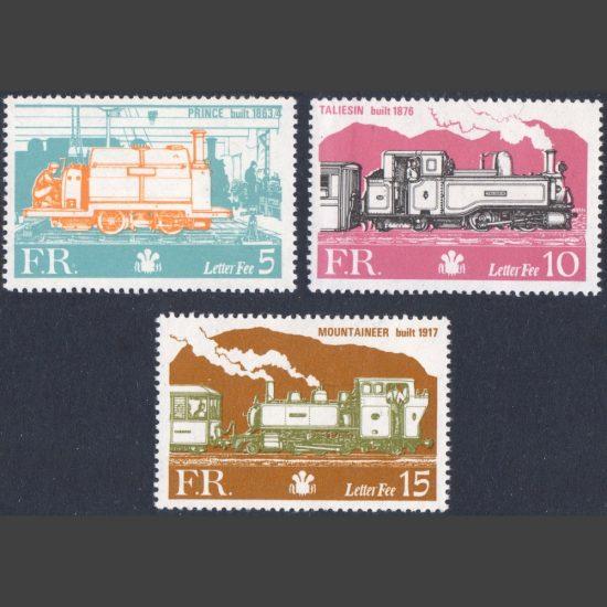 Ffestiniog Railway 1978 Definitives (3v, 5p to 15p, U/M)