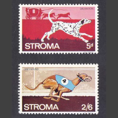 Stroma 1969 Dogs Part Set (2v, 5d and 2s6d, U/M)