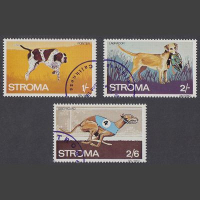 Stroma 1969 Dogs Part Set (3v, 1s to 2s6d, CTO)