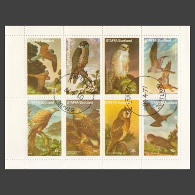 Staffa 1977 Birds of Prey (8v, 1½p to 40p, CTO)