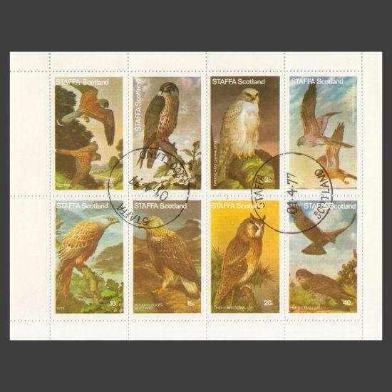 Staffa 1977 Birds of Prey (8v, 1½p to 40p, CTO)