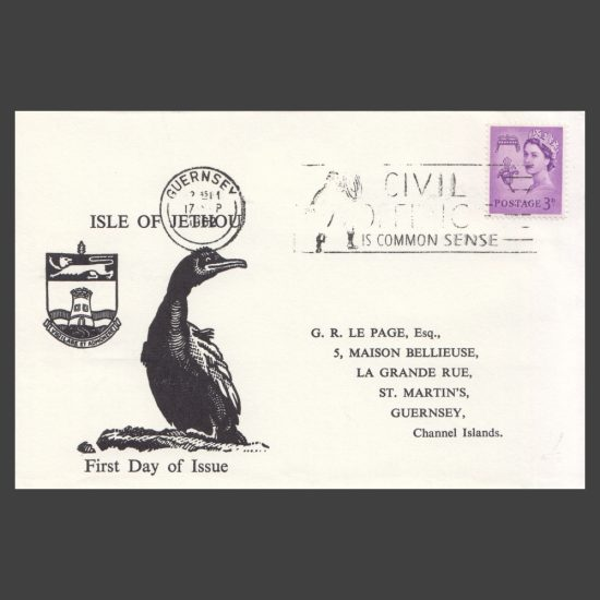 Isle of Jethou 1962 Europa Set on First Day Cover (FDC) - front