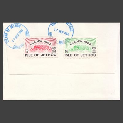Isle of Jethou 1962 Europa Set on First Day Cover (FDC) - back