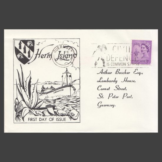 Herm Island1962 Europa Set on First Day Cover (FDC) - front