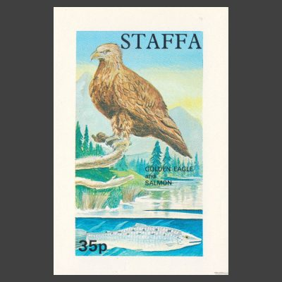 Staffa 1972 Golden Eagle / Salmon Sheetlet (35p, U/M)