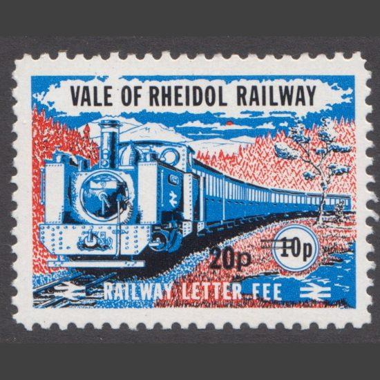 Vale of Rheidol Railway 1981 20p Provisional Issue (U/M)