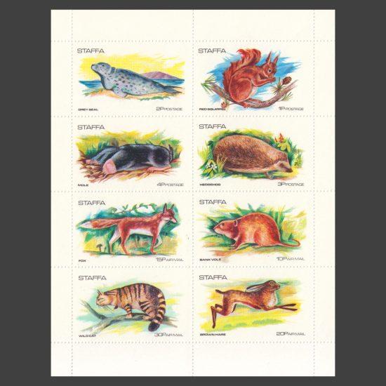 Staffa 1973 Highland Animals (8v, 1p to 30p, U/M)