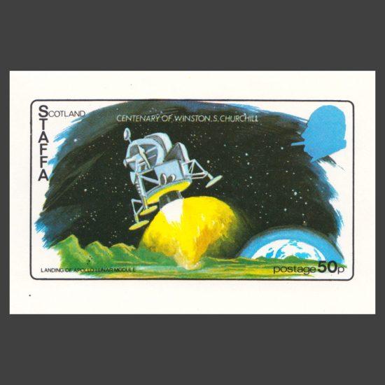 Staffa 1974 Churchill / Apollo Sheetlet (50p, U/M)