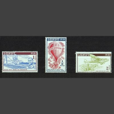 Lundy 1954 Airmail Definitives Part Set (3v, ½p to 2p, U/M)