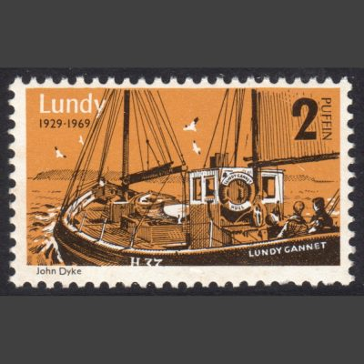 Lundy 1969 40th Anniversary of Lundy Post - 2p Value Only (U/M)