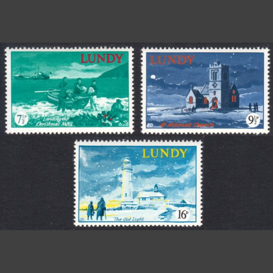 Lundy 1976 Christmas (3v, 7½p to 16p, U/M)