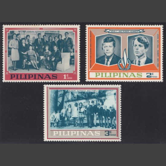 Philippines 1968 Unissued 'Kennedy Mosden Issue' Part Set (3v, 1c to 3c, U/M)