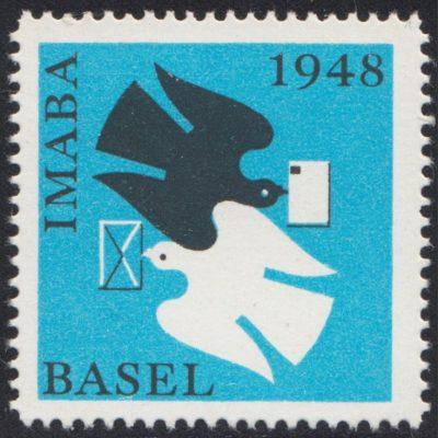 Switzerland 1948 IMABA Basel Stamp Exhibition Label (U/M)