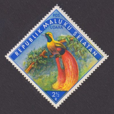 Maluku Selatan (South Moluccas) 1950s Tropical Birds (2½r - single value, U/M)