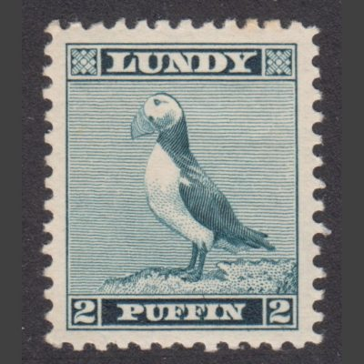Lundy 1939 2p Standing Puffin Definitive (U/M)