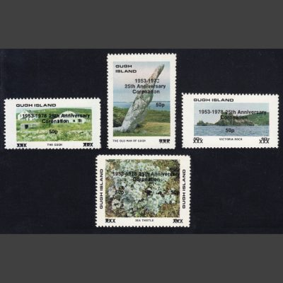 Gugh Island 1978 25th Anniversary of the Coronation (4x 50p, U/M)