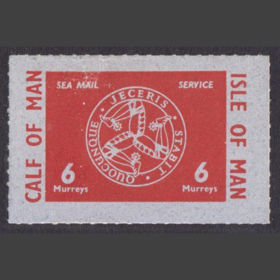 "Calf of Man 1962 6m Triskelion ""Sea Mail Service"" Definitive (U/M)"