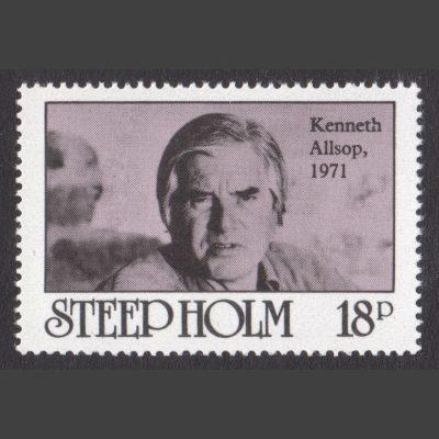 Steep Holm 1980 Kenneth Allsop (18p - single value, U/M)